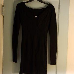 Diane Von Furstenburg Black long sleeved Dress